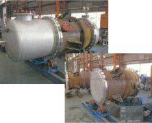 製作実績 多管式熱交換器(第一種圧力容器)SUS316