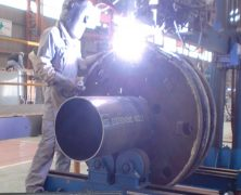 製作実績 破砕機ローター硬化肉盛り補修